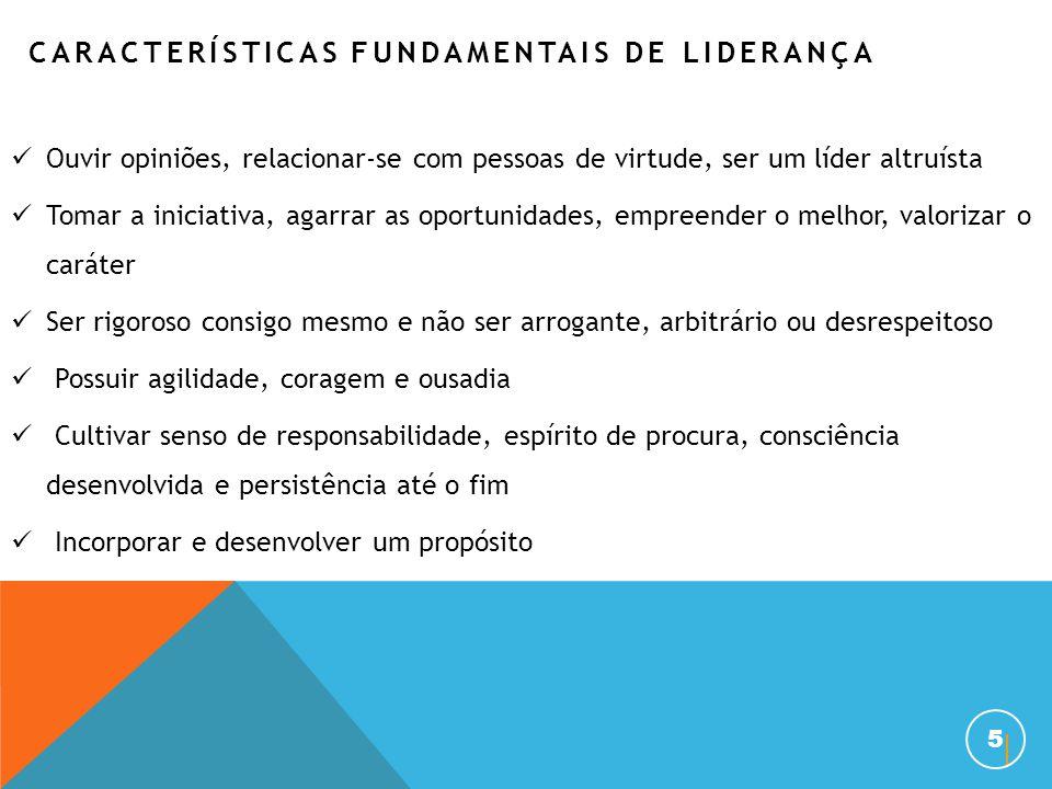 CARACTERÍSTICAS FUNDAMENTAIS DE LIDERANÇA