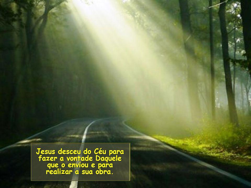 Jesus desceu do Céu para fazer a vontade Daquele que o enviou e para realizar a sua obra.