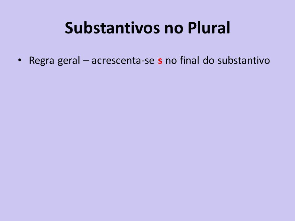 Substantivos no Plural