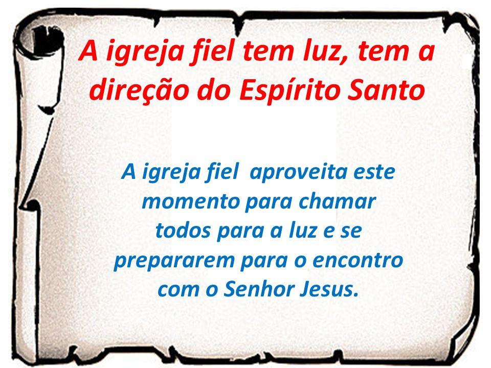 A igreja fiel tem luz, tem a direção do Espírito Santo