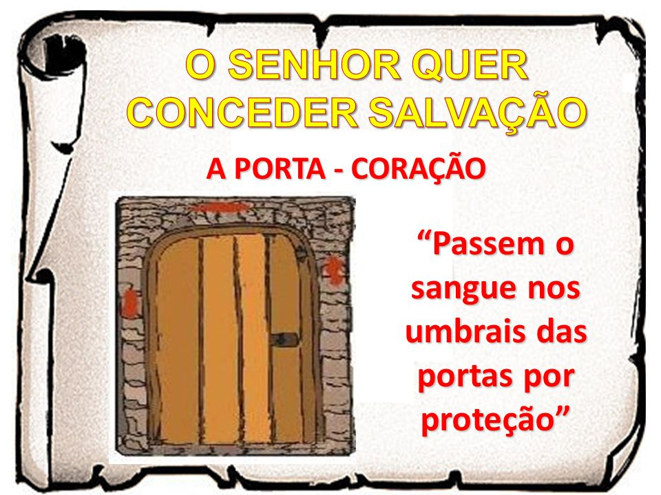 O SENHOR QUER CONCEDER SALVAÇÃO