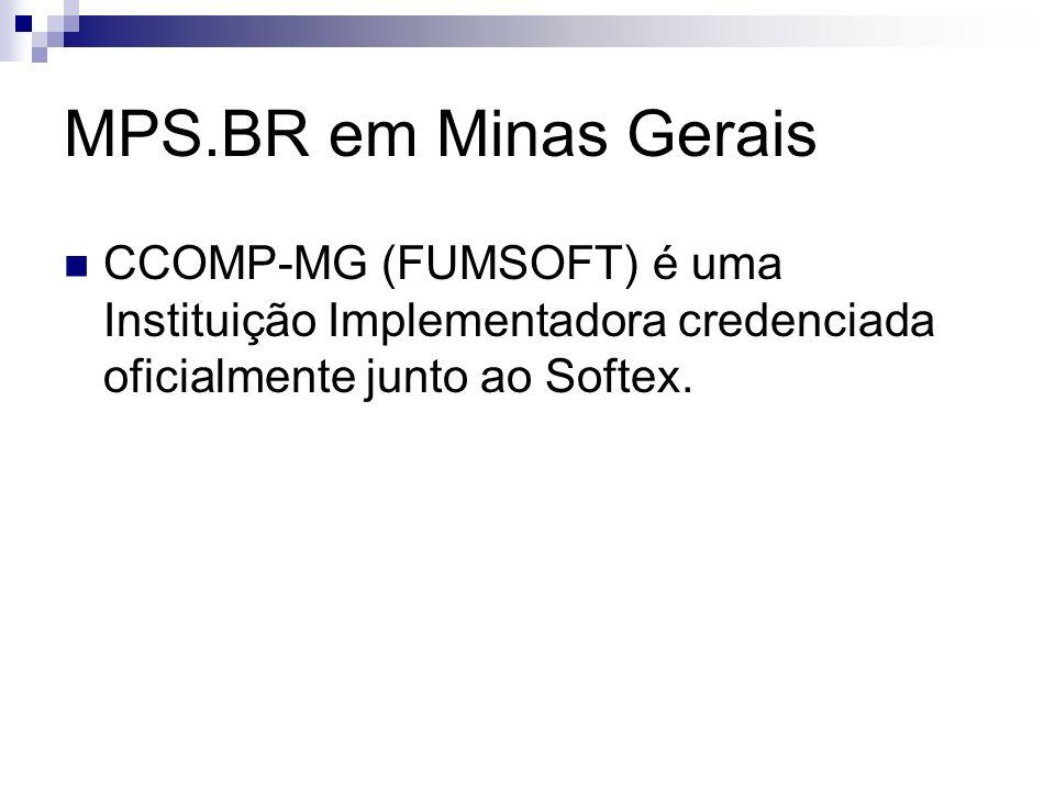 MPS.BR em Minas Gerais CCOMP-MG (FUMSOFT) é uma Instituição Implementadora credenciada oficialmente junto ao Softex.