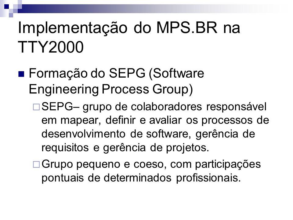 Implementação do MPS.BR na TTY2000