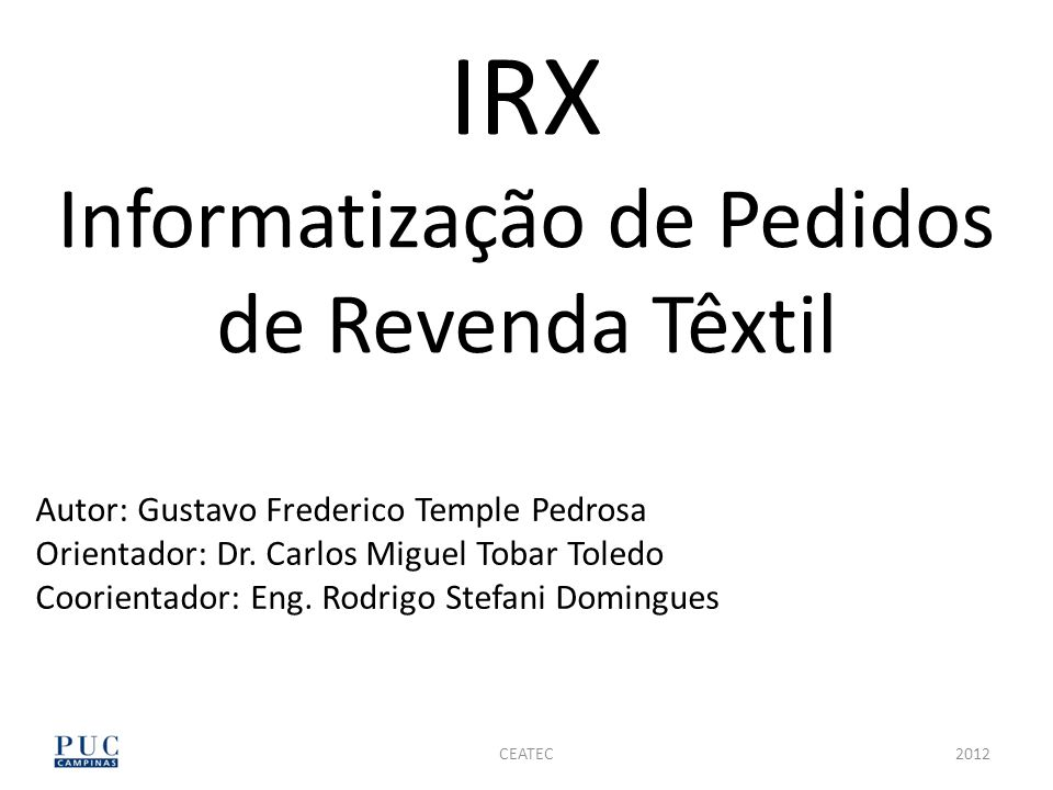 IRX Informatização de Pedidos