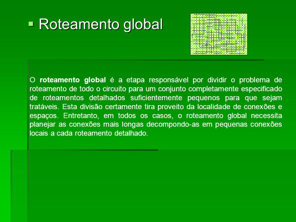Roteamento global