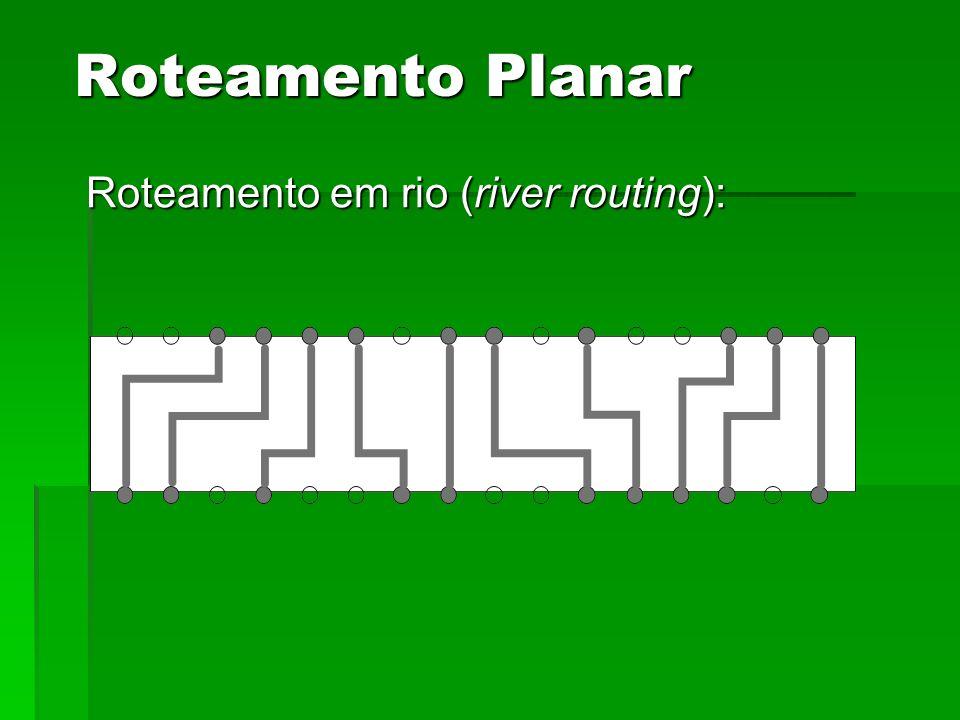 Roteamento Planar Roteamento em rio (river routing):