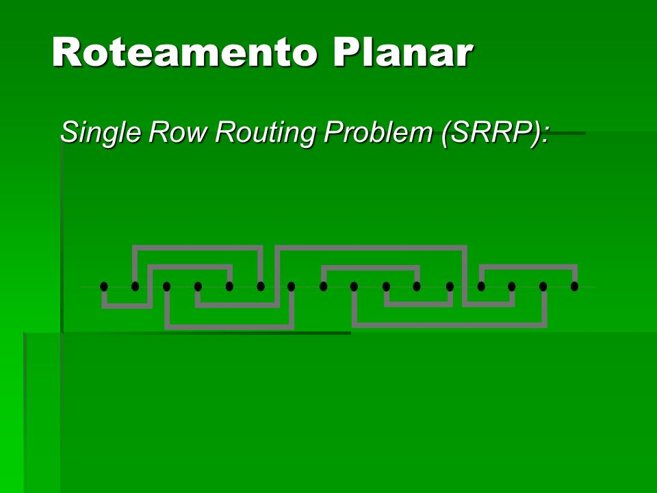 Roteamento Planar Single Row Routing Problem (SRRP):