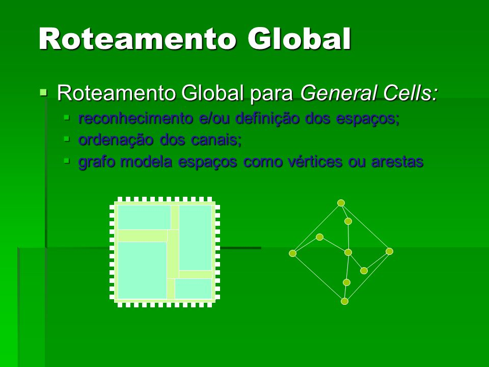 Roteamento Global Roteamento Global para General Cells: