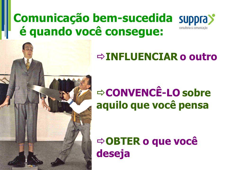 Comunicação bem-sucedida é quando você consegue: