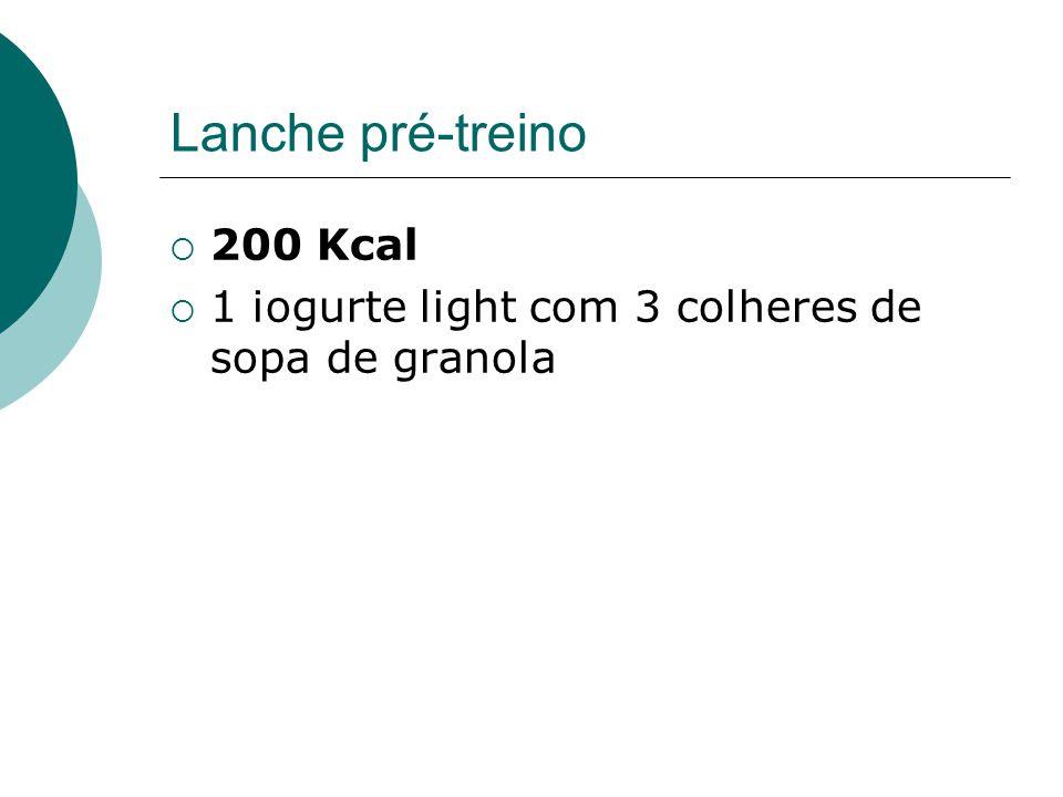 Lanche pré-treino 200 Kcal