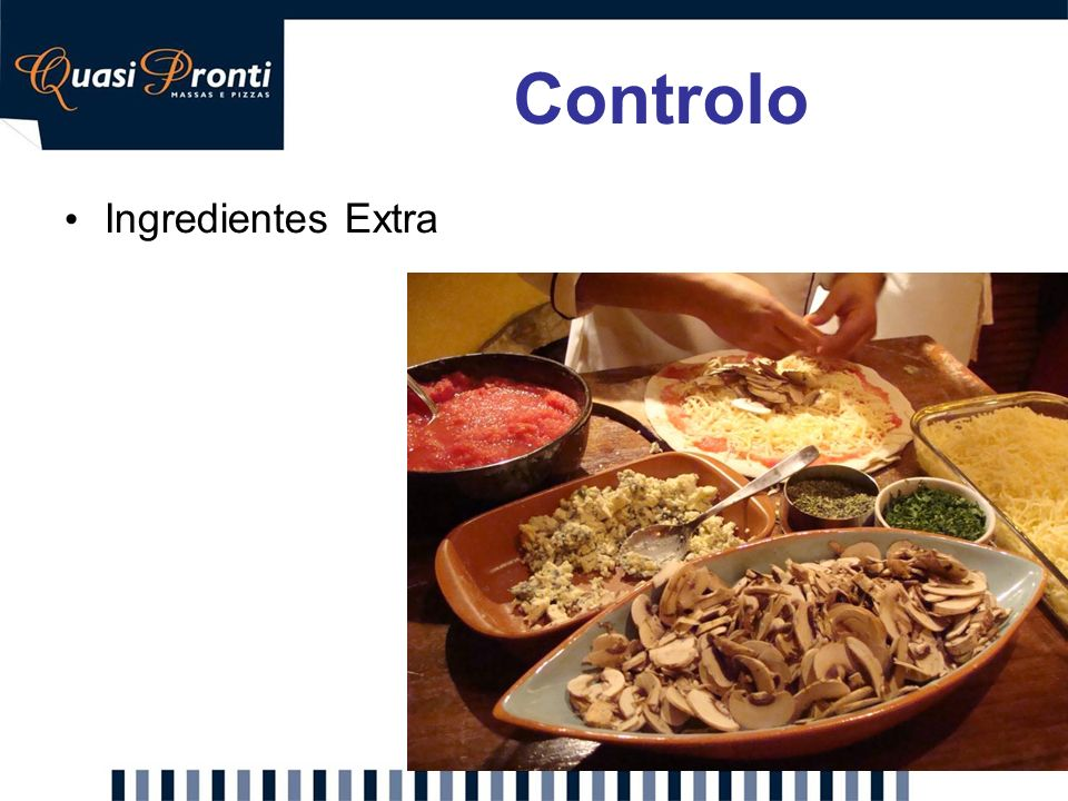 Controlo Ingredientes Extra