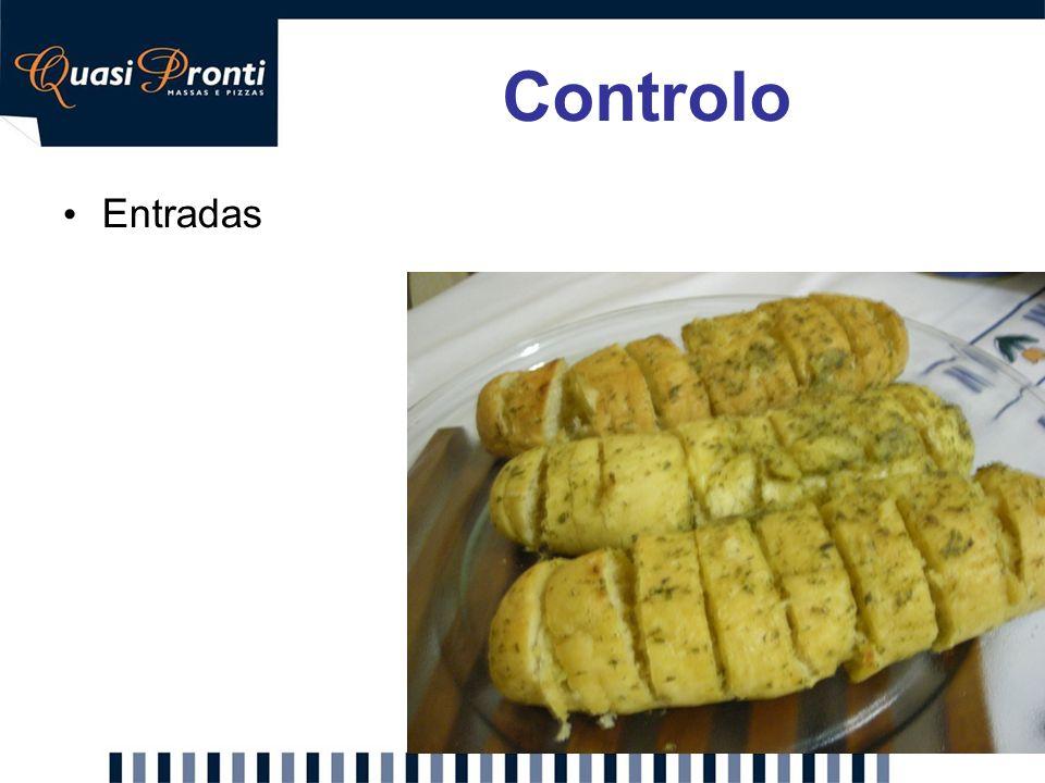 Controlo Entradas Proposta: Servir pão de alho