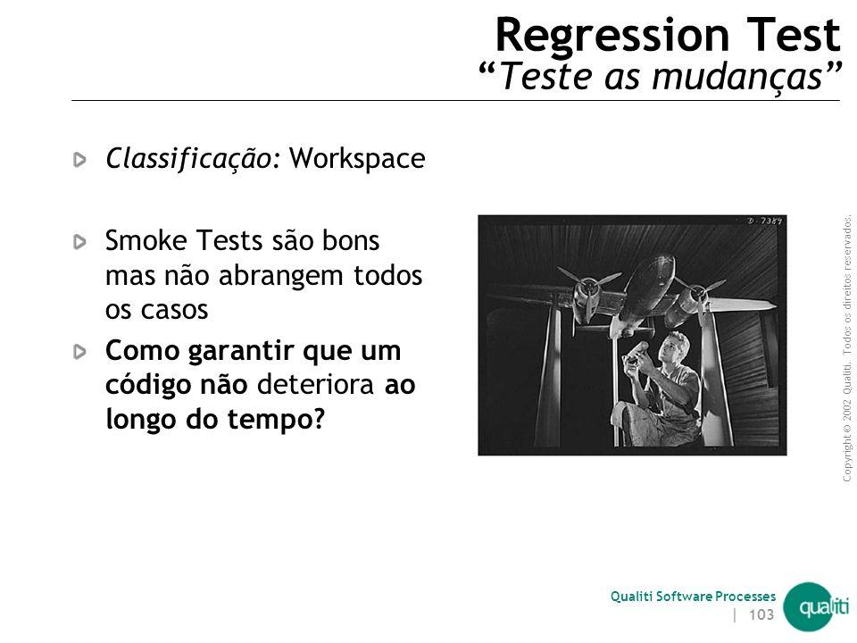 Regression Test Teste as mudanças