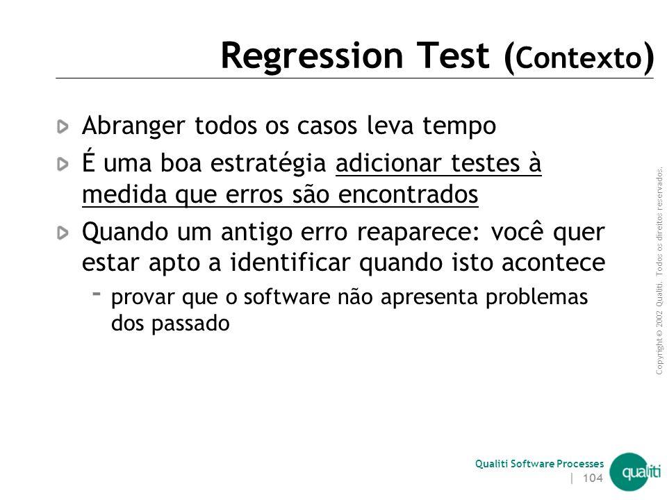 Regression Test (Contexto)