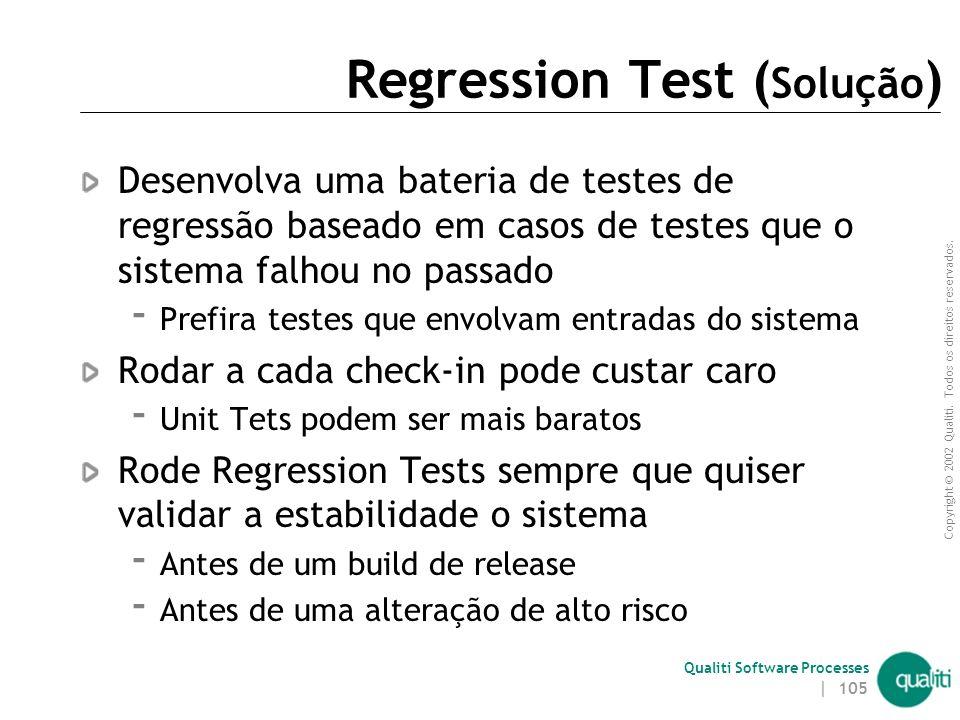 Regression Test (Solução)