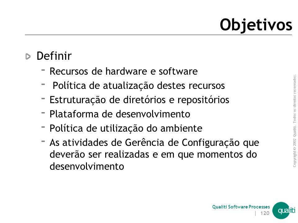 Objetivos Definir Recursos de hardware e software