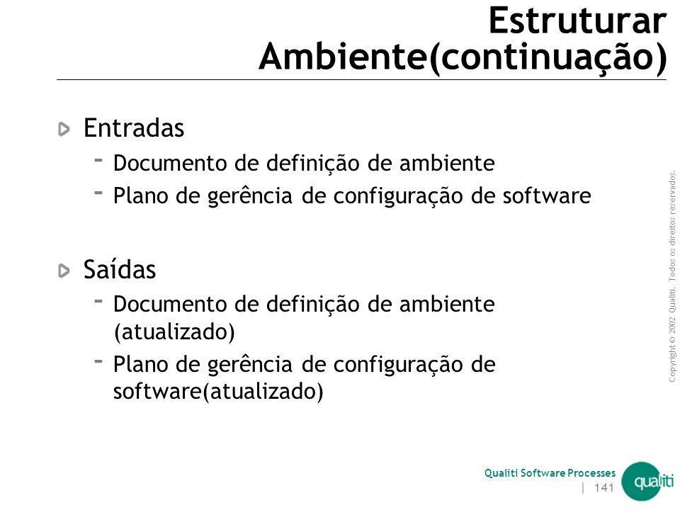 Estruturar Ambiente(continuação)