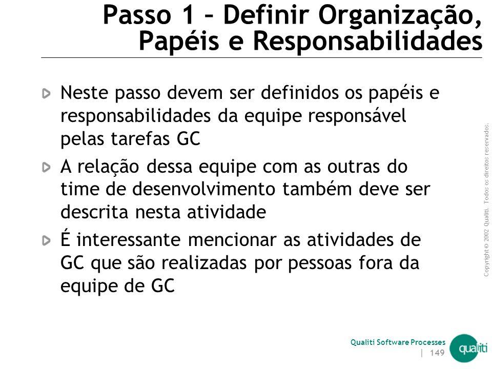 Passo 1 – Definir Organização, Papéis e Responsabilidades