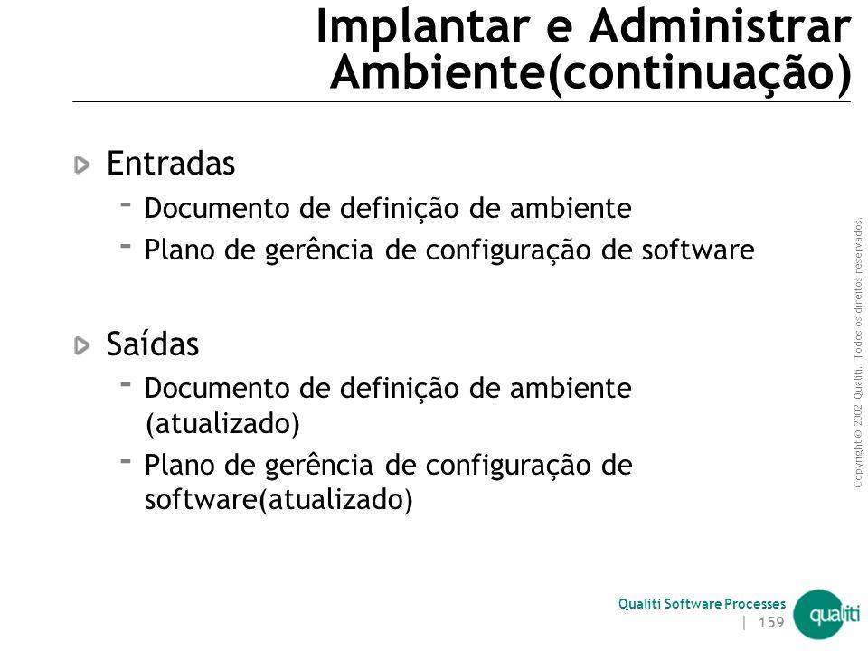 Implantar e Administrar Ambiente(continuação)