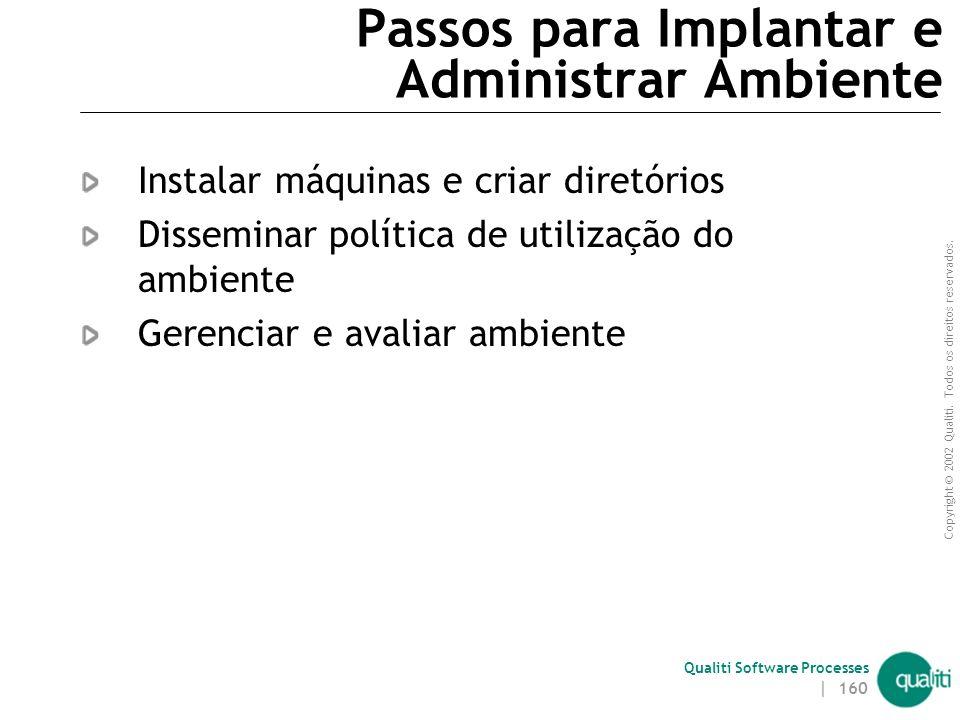 Passos para Implantar e Administrar Ambiente