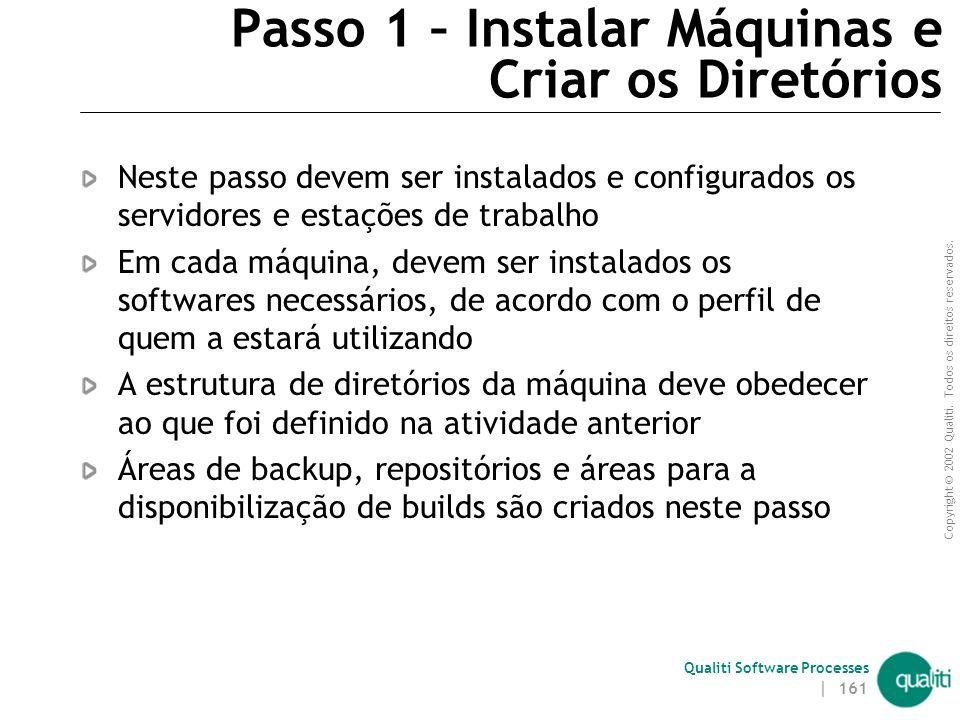 Passo 1 – Instalar Máquinas e Criar os Diretórios