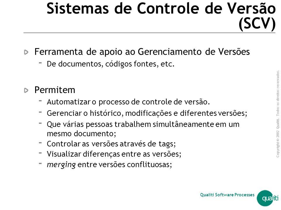 Sistemas de Controle de Versão (SCV)