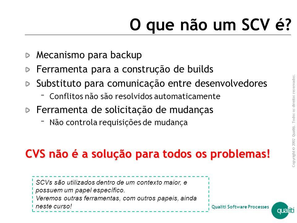O que não um SCV é CVS não é a solução para todos os problemas!