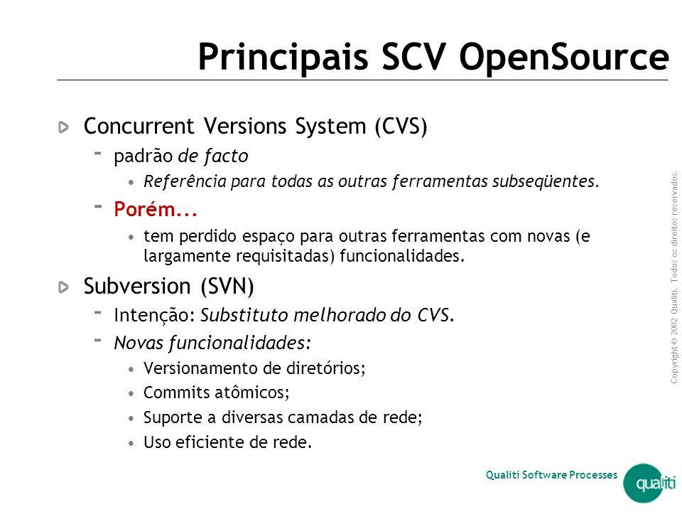 Principais SCV OpenSource