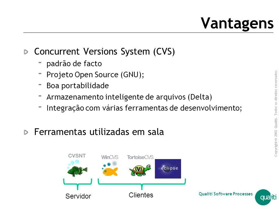 Vantagens Concurrent Versions System (CVS)