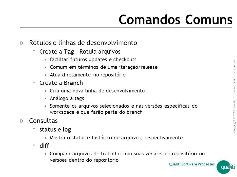 Comandos Comuns Rótulos e linhas de desenvolvimento Consultas