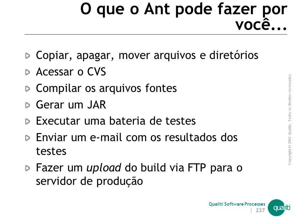 O que o Ant pode fazer por você...