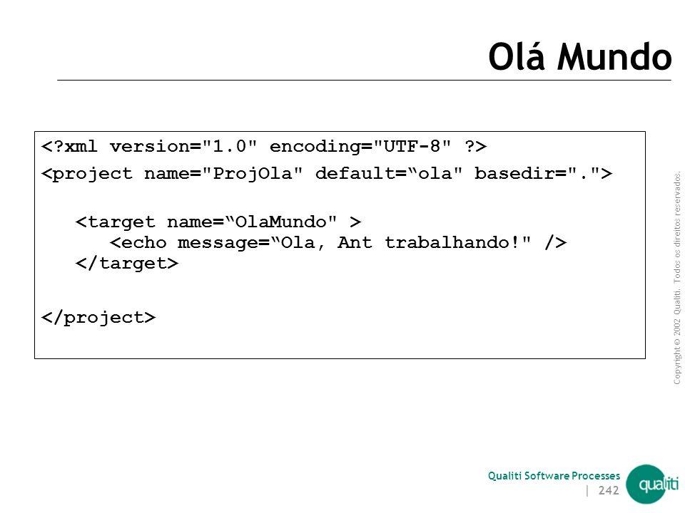 Olá Mundo < xml version= 1.0 encoding= UTF-8 >