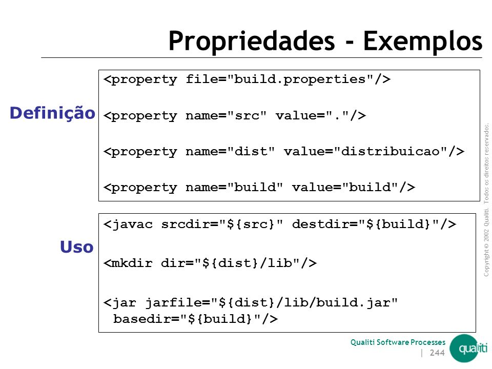 Propriedades - Exemplos