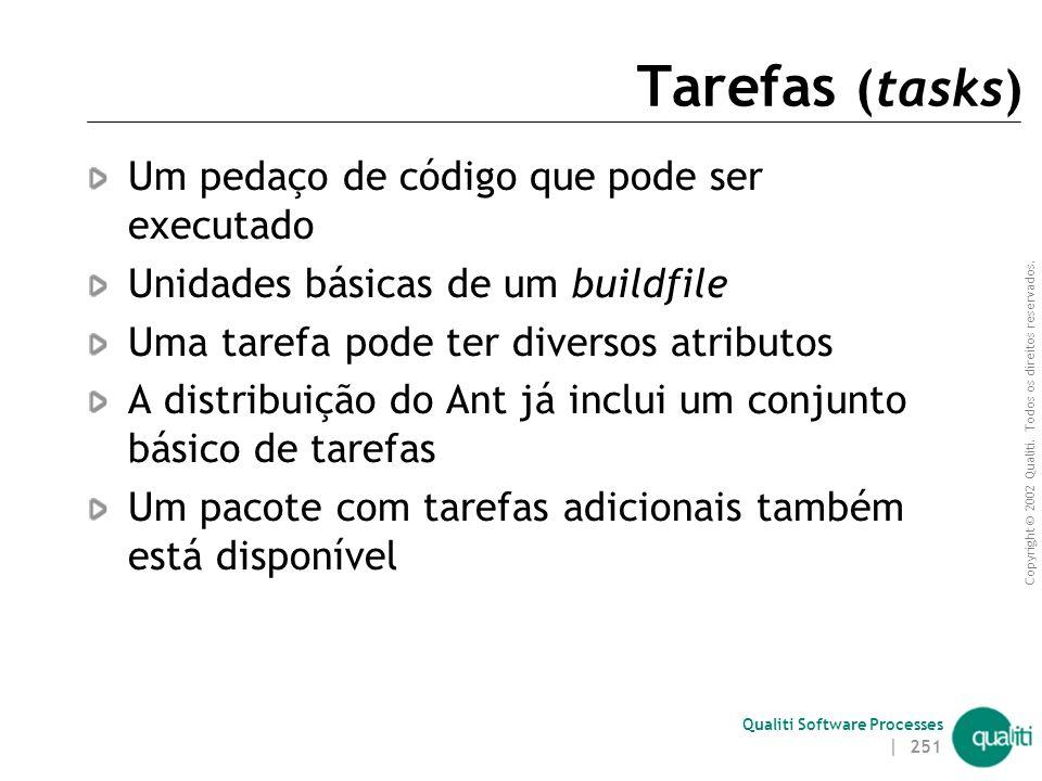 Tarefas (tasks) Um pedaço de código que pode ser executado