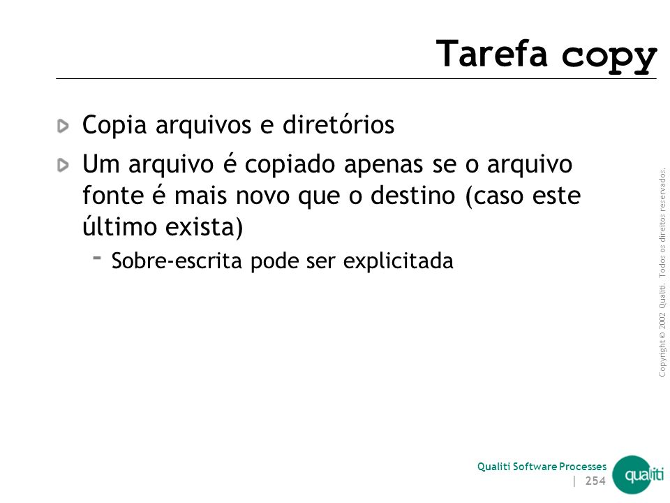 Tarefa copy Copia arquivos e diretórios