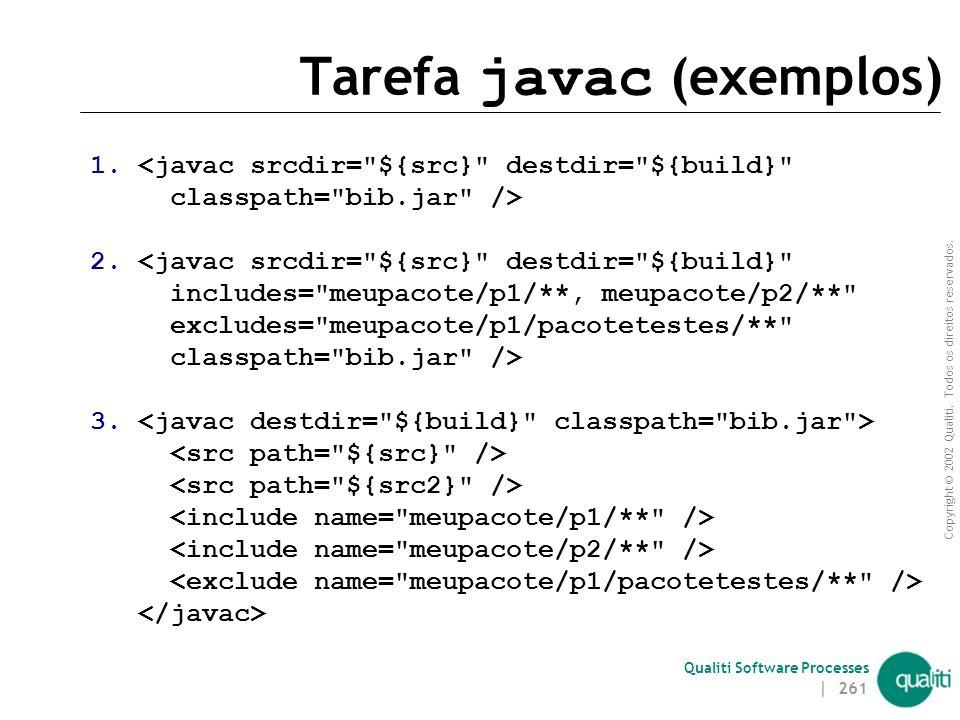 Tarefa javac (exemplos)
