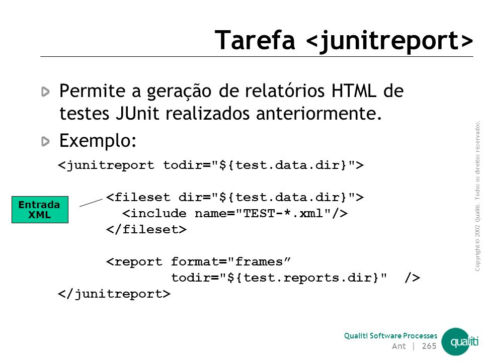 Tarefa <junitreport>