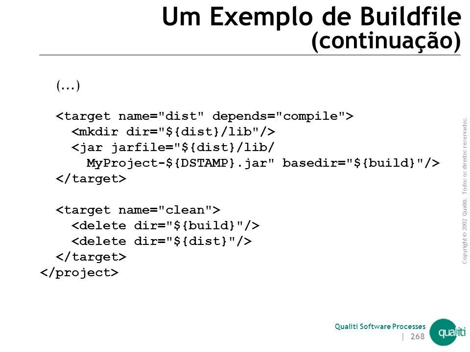 Um Exemplo de Buildfile (continuação)