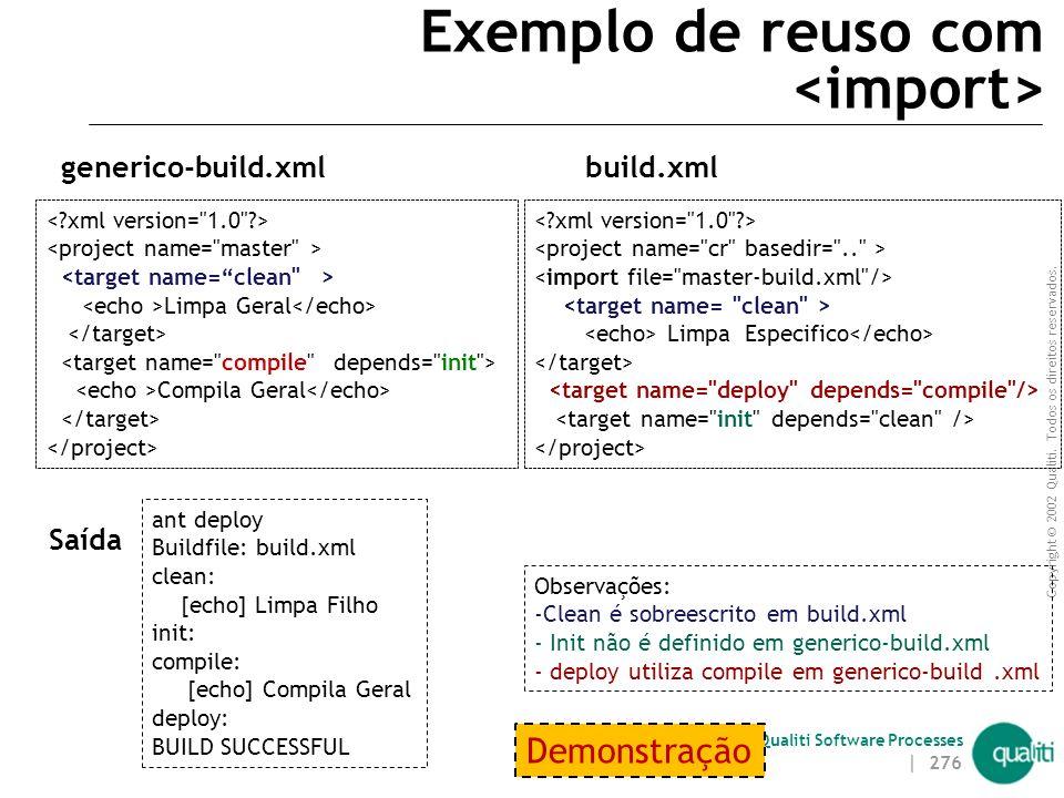 Exemplo de reuso com <import>