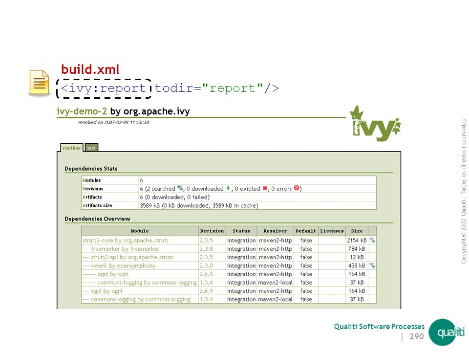<ivy:report todir= report />