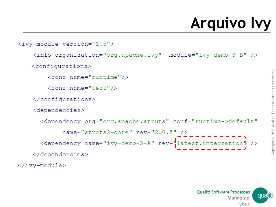Arquivo Ivy <ivy-module version= 1.5 >