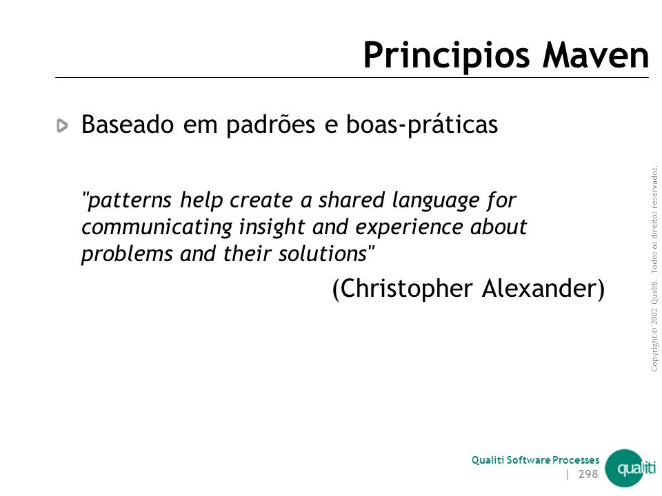 Principios Maven Baseado em padrões e boas-práticas