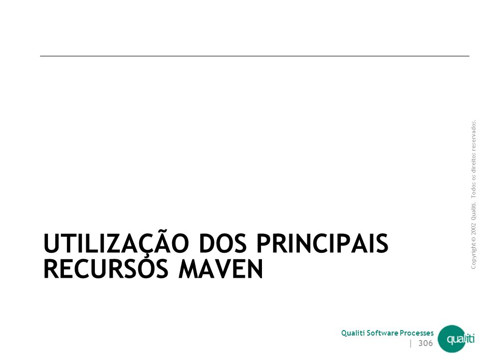 UTILIZAÇÃO DOS PRINCIPAIS RECURSOS MAVEN