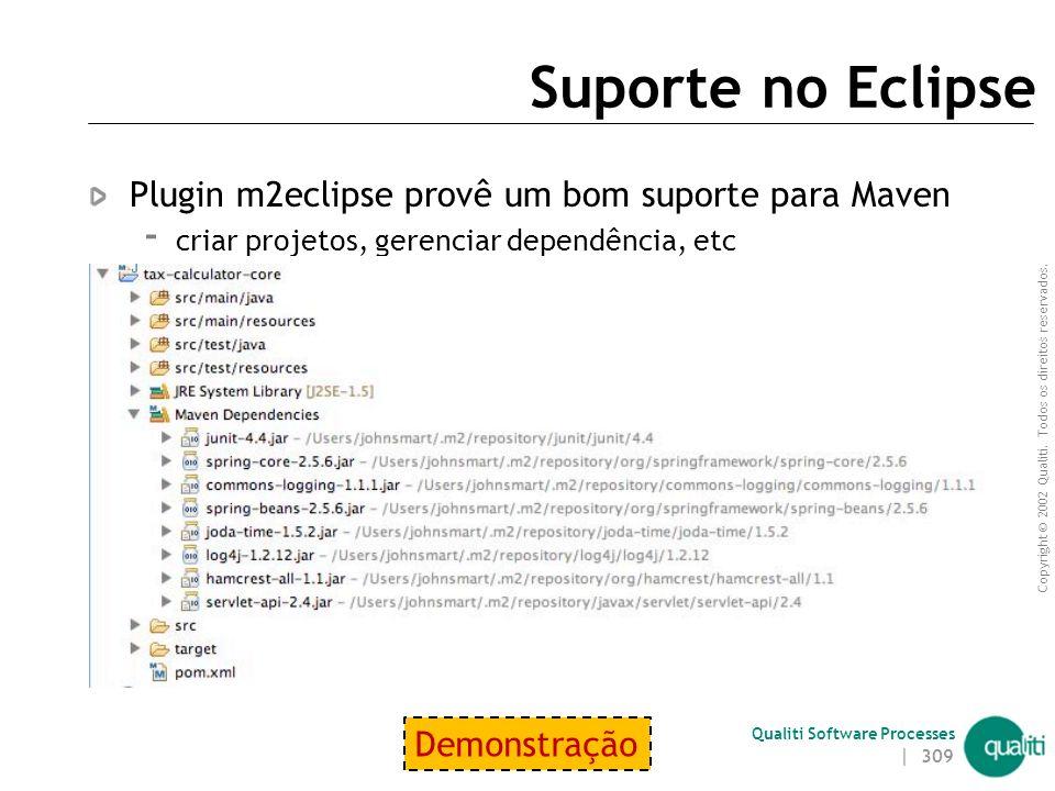 Suporte no Eclipse Plugin m2eclipse provê um bom suporte para Maven