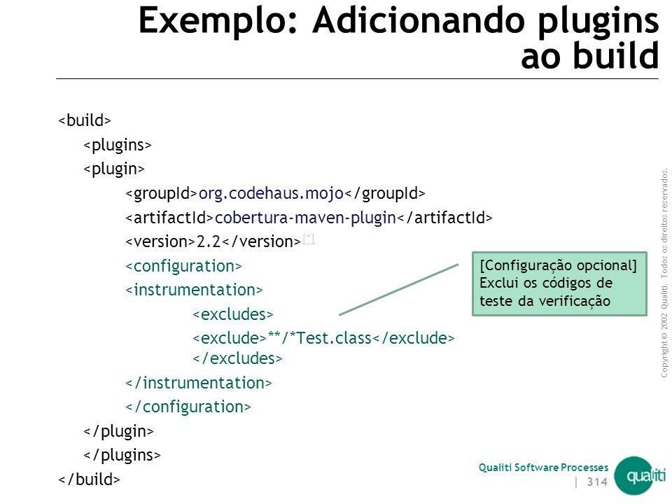 Exemplo: Adicionando plugins ao build