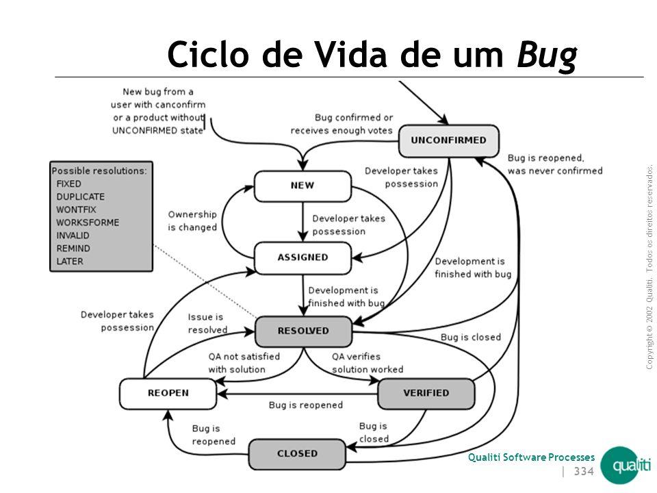 Ciclo de Vida de um Bug Introdução