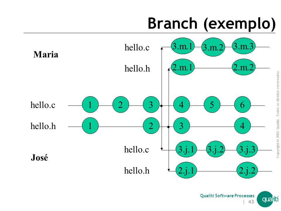 Branch (exemplo) 3.m.1 3.m.2 3.m.3 1 hello.c 2 3 hello.h José Maria