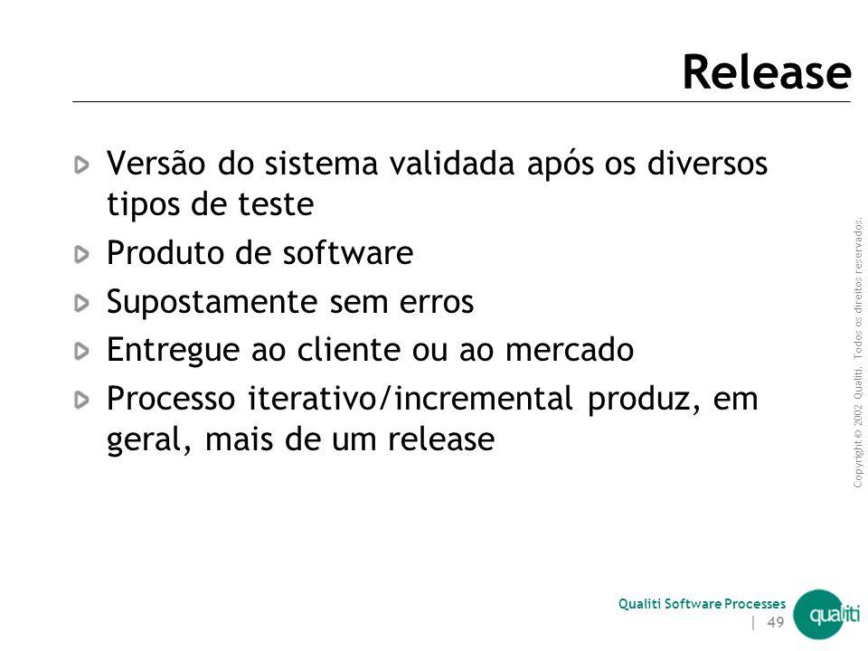 Release Versão do sistema validada após os diversos tipos de teste