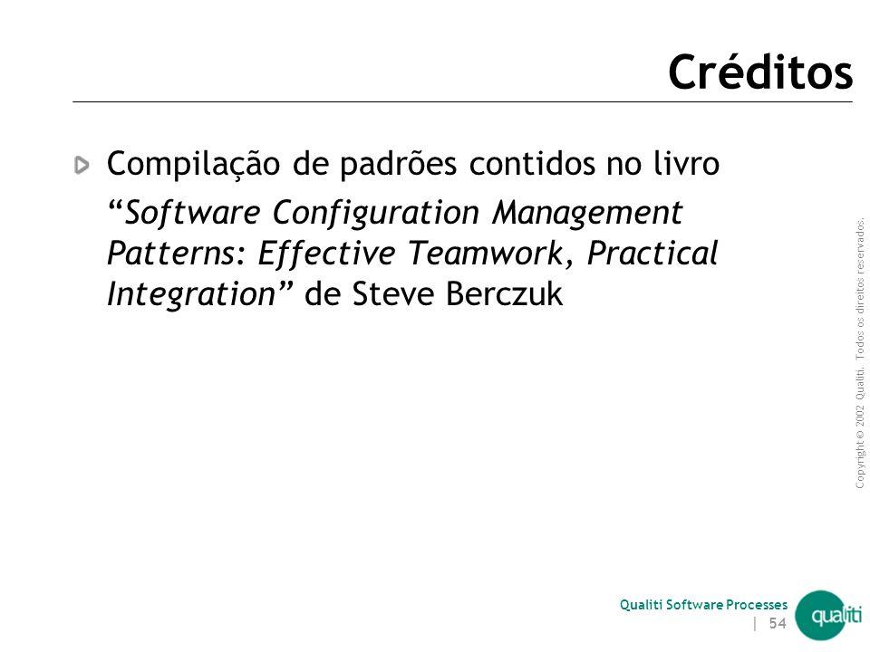 Créditos Compilação de padrões contidos no livro