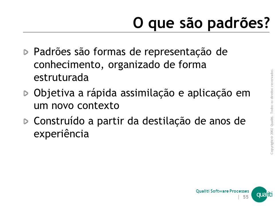 O que são padrões Padrões são formas de representação de conhecimento, organizado de forma estruturada.